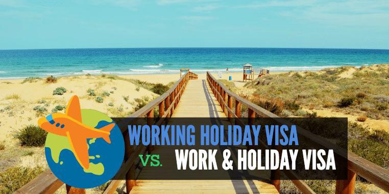 Working holiday vs work and holiday